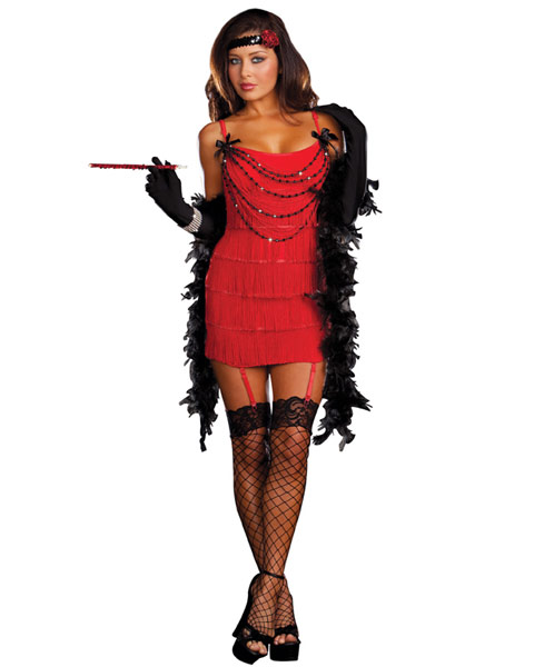 Sexy Ruby Red Hot Women's Flapper Costume