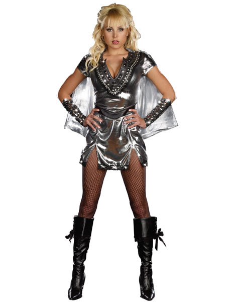 Sexy Metal Maiden Warrior Women's Costume