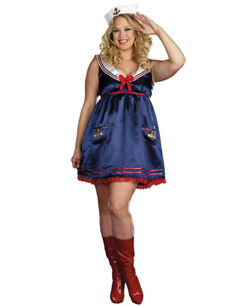 Sexy Sailor Mine Plus Women's Costume