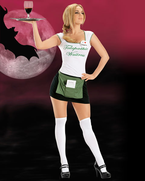 Telepathic Waitress Sexy Women's Costume