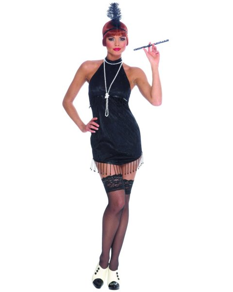 Black Flapper Costume For Adult