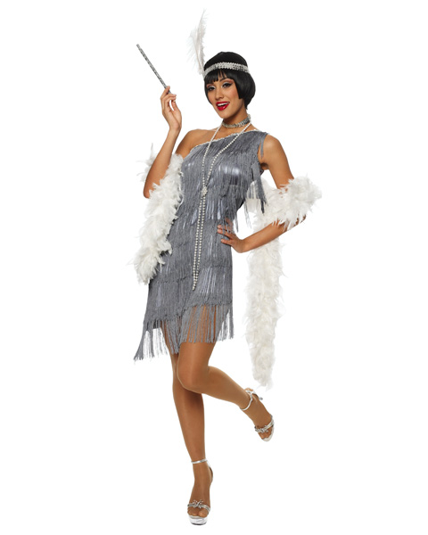 Womens Dazzling Flapper Sexy Costume
