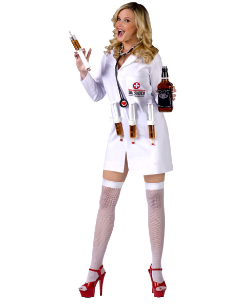Womens Sexy Dr. Shots Costume