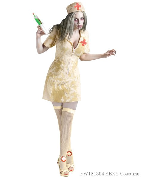 Women's Zombie Nurse Sexy Costume