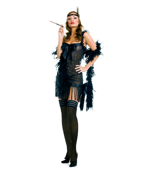 Adult Sexy Sequin Flapper Costume