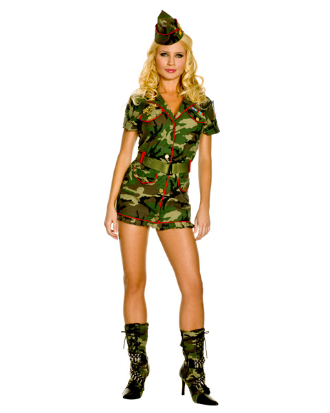 Sexy Thin Red Line Army Cadet Adult Costume