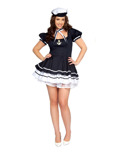Womens Sexy Sailor Sweetie Plus Costume