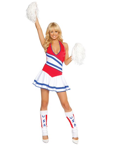 Cheering In The USA Sexy Womens Cheerleader Costume