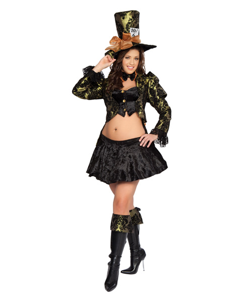 Sexy Tea Party Tease Mad Hatter Adult Plus Size Deluxe Costume