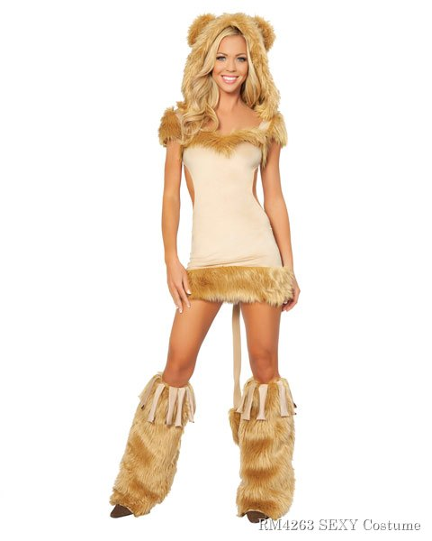 Sexy Courageous Lion Women's Costume