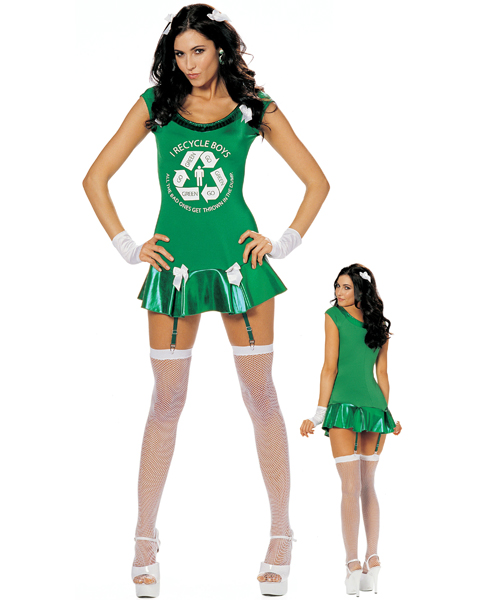 Adult Sexy Go Green Girl Costume