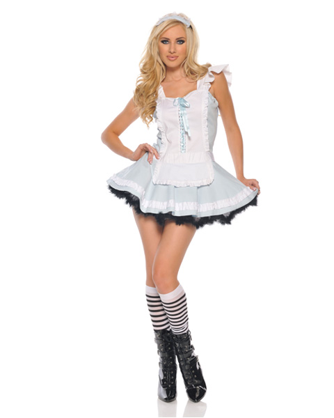 Womens Sexy Alluring Alice In Wonderland Costume