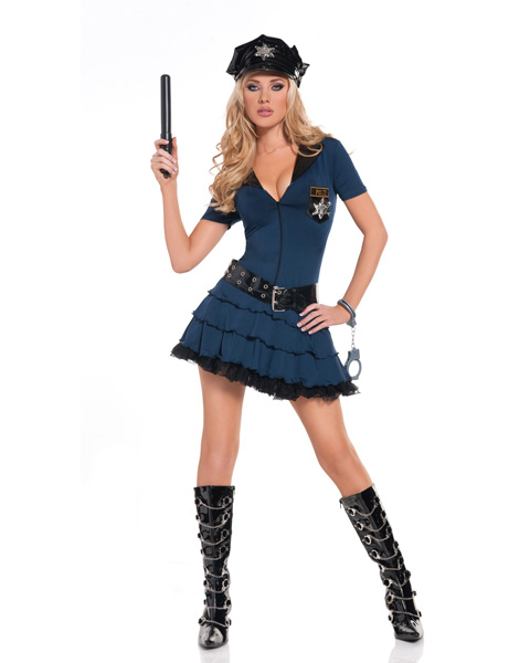 Womens Sexy Midnight Patrol Police Officer Costume