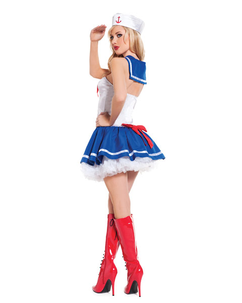 Sexy Baby Blue Sailor Womens Costume