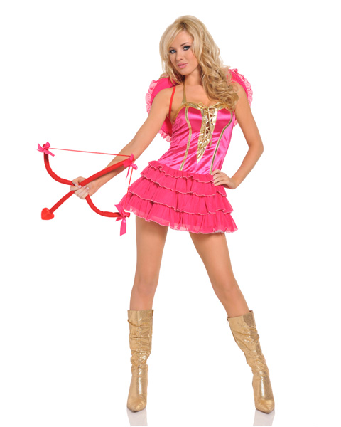Womens Sexy Kiss Me Cupid Costume