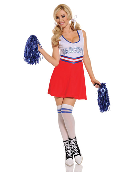 Womens Team Captain Sexy Cheerleader Costume