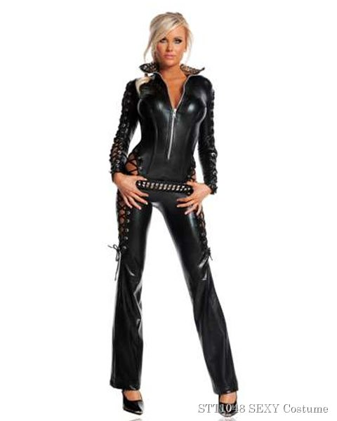 Deluxe Sexy Rebel Womens Catsuit Costume