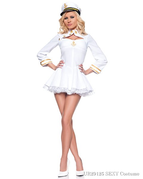 Sexy Elegant Navy Admiral Womens Costume