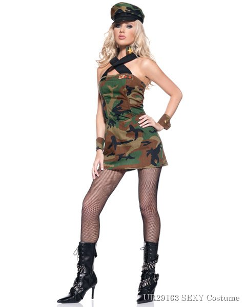 Sexy Army Cadet Womens Costume
