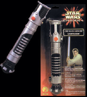 Star Wars Obi Wan Kanobi Blue Light Saber