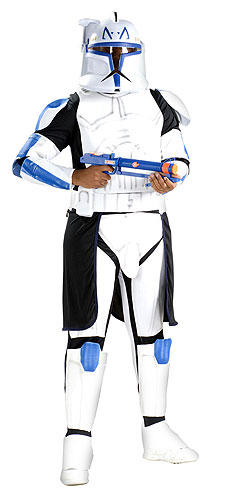 Adult Deluxe Blue Clone Trooper Rex Costume