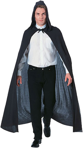 Black Hooded Cape - Click Image to Close