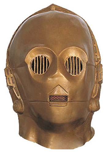 Deluxe Latex C3PO Mask