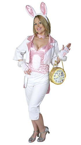 Womens White Rabbit Costume