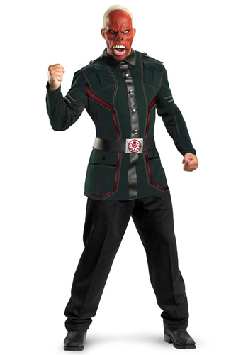 Deluxe Adult Red Skull Costume