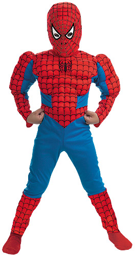 Kids Deluxe Muscle Spiderman Costume