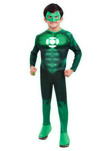 Kids Light Up Green Lantern Costume