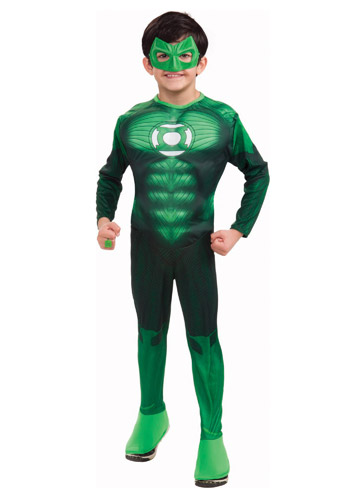Kids Muscle Chest Green Lantern Costume