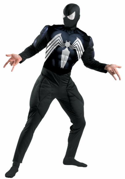 Black-Suited Spider-Man Deluxe Muscle Adult Costume