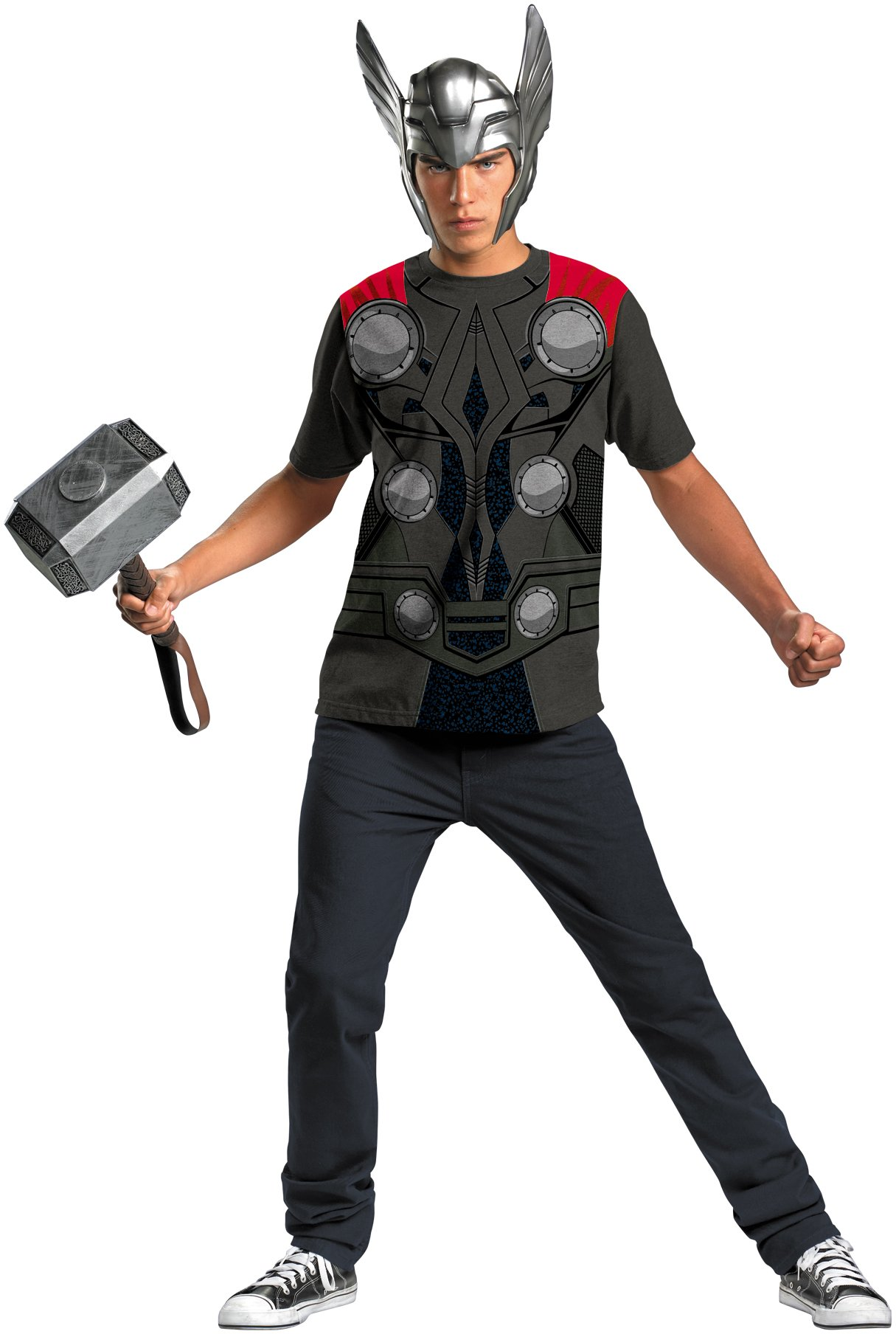 Thor Movie - Thor T-Shirt And Helmet Adult Costume Set
