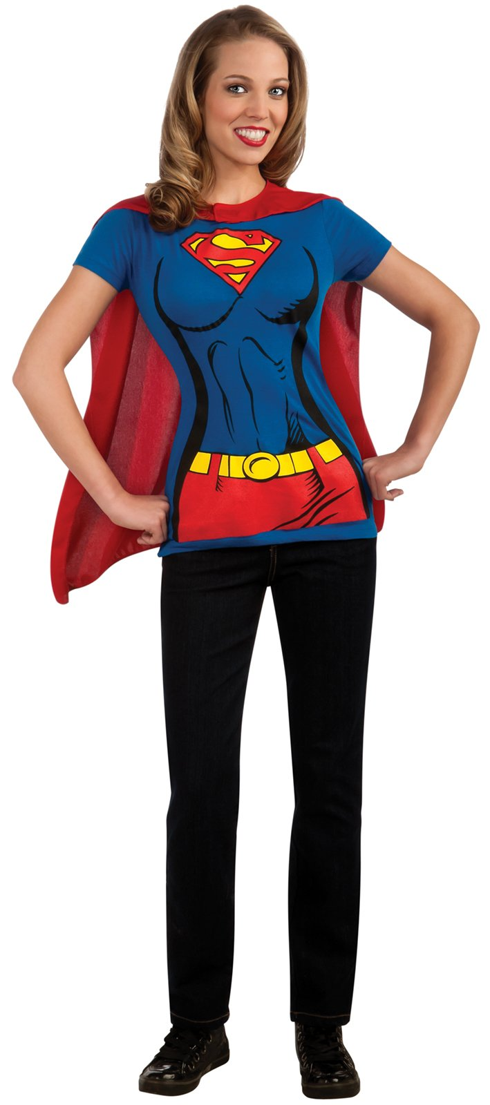 Supergirl T-Shirt Adult Costume Kit