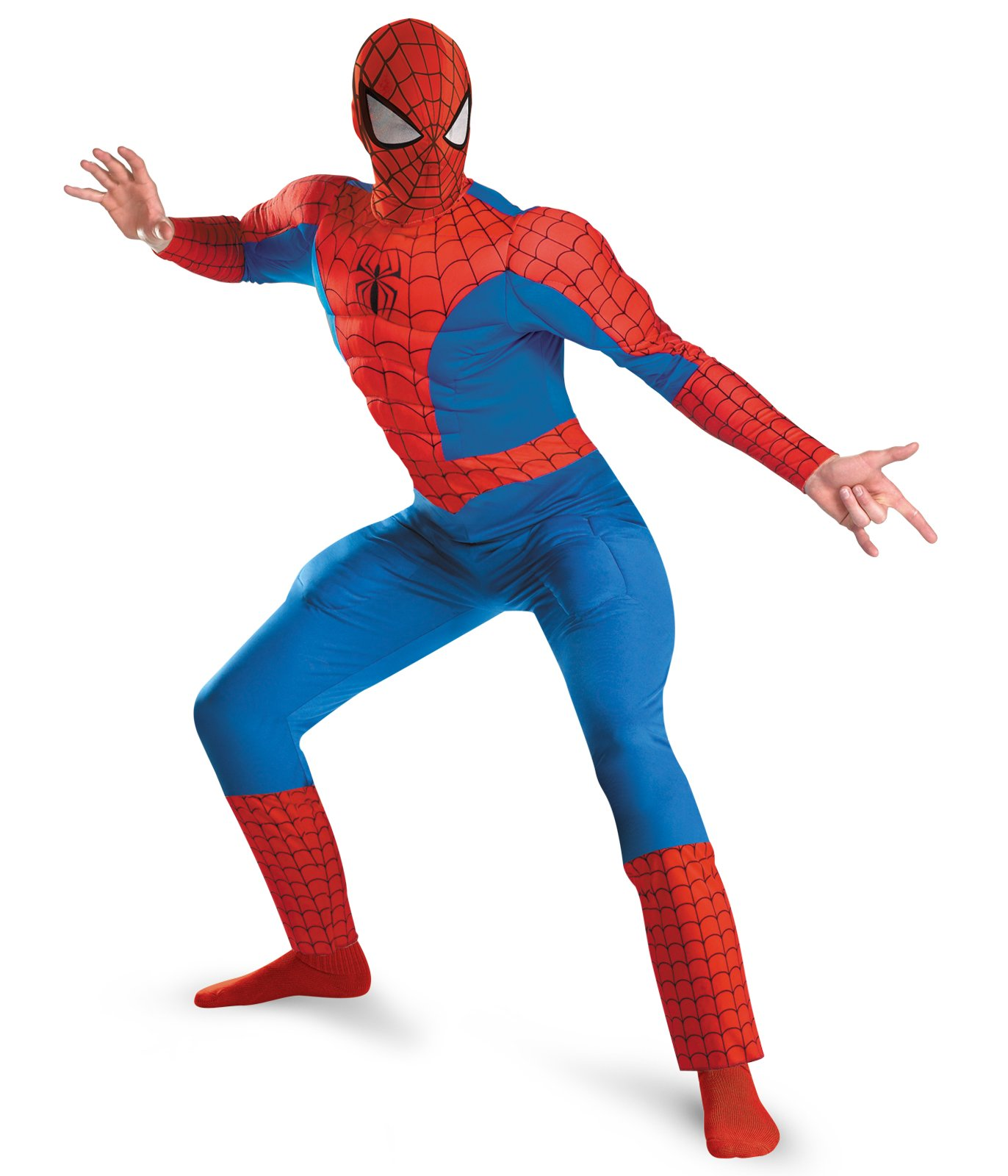 Spider - Man Deluxe Muscle Plus Adult Costume