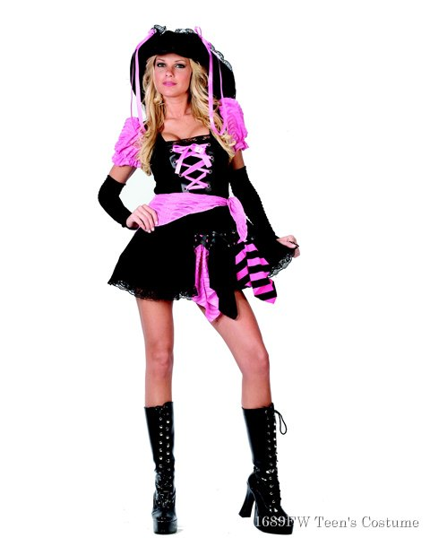Pink Punk Pirate Costume For Teen