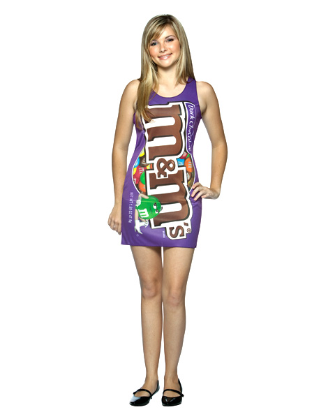 Teen M and M Dark Tank Dress