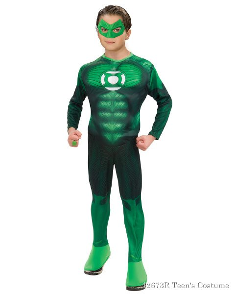 Teen Deluxe Muscle Chest Green Lantern Hal Jordan Costume