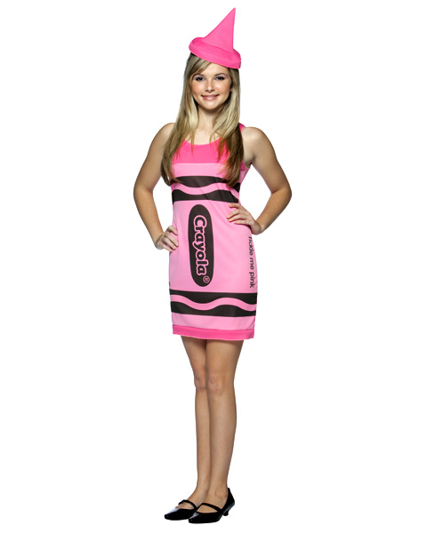 Teen Crayola Tickle Me Pink Costume