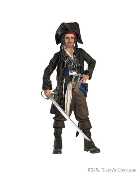 Teen Captain Jack Sparrow Prestige Premium Costume