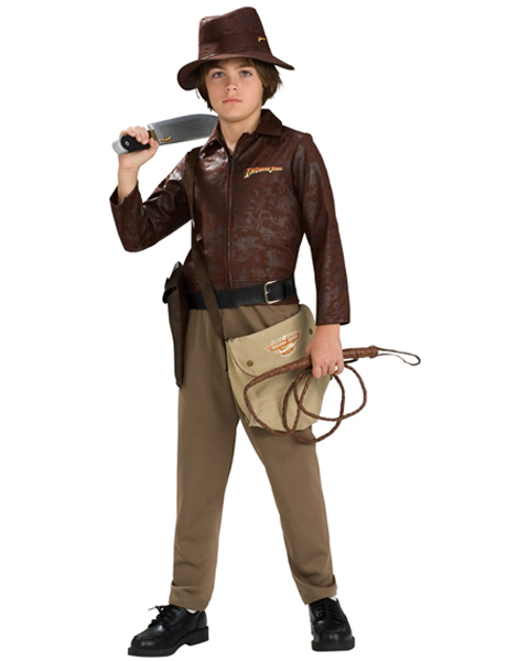Deluxe Tween Indiana Jones Distressed Jackets Costume