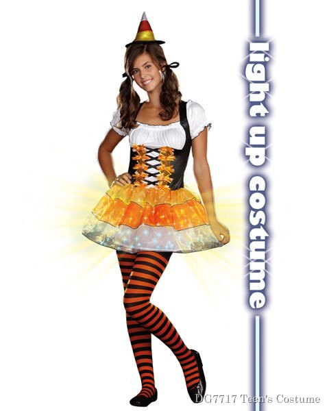 Teen Candy Corn Cutie Costume - Click Image to Close