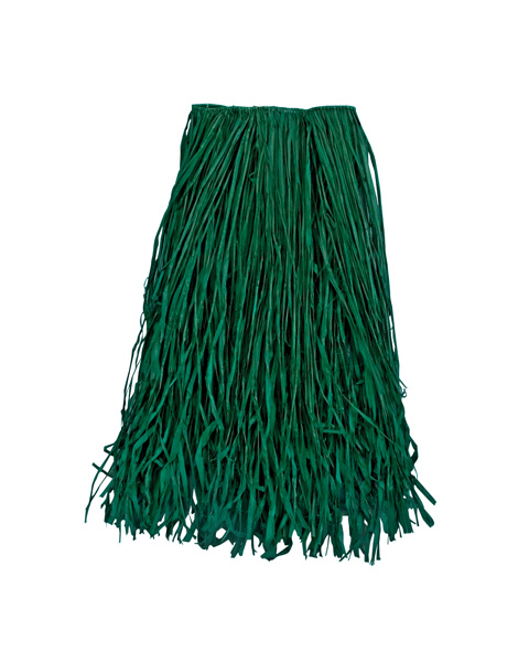 Adult Green Raffia Grass Skirt