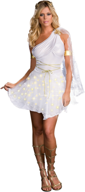 Glowing Goddess (Light-Up) Adult Costume