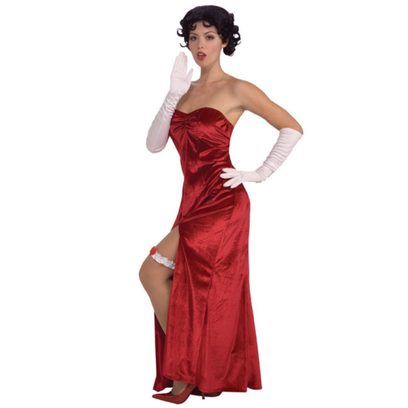 Betty Boop Long Velvet Dress Adult