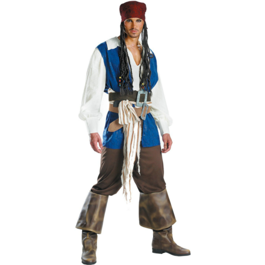 Pirates of the Caribbean 3 Captain Jack Sparrow Quality Adult (2