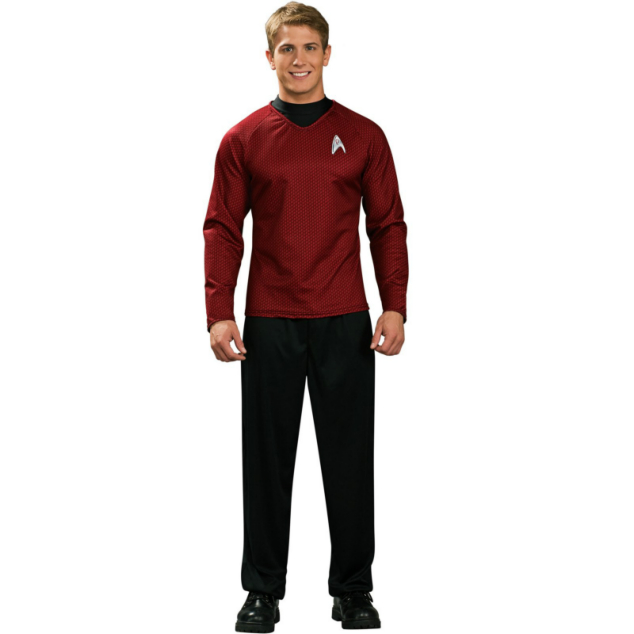 Star Trek Movie (2009) Red Shirt Deluxe Adult Costume