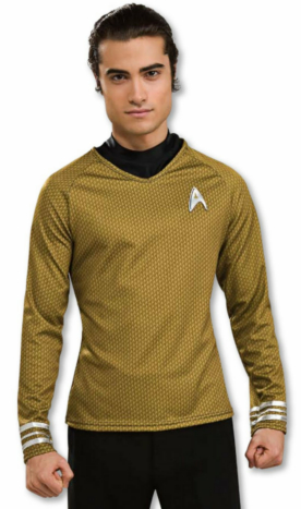 Star Trek Movie (2009) Grand Heritage Gold Shirt Adult Costume