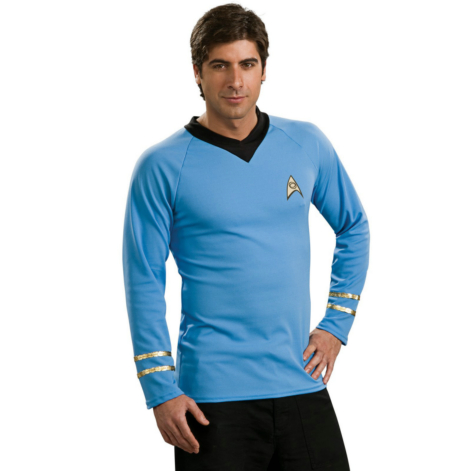 Star Trek Classic Blue Shirt Deluxe Adult Costume